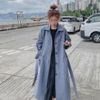 Buttoned Slit Back Trench Coat