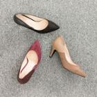Pointy-toe Color-block Pumps