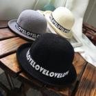 Lettering Bowler Hat