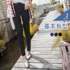 Plain Elastic Skinny Pants