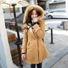 Furry Hooded Fleece Coat