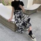 Leopard Print Medium Maxi Skirt