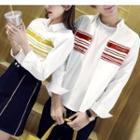 Couple Matching Stripe Long-sleeve Shirt