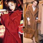 Fleece Double Breasted Long Coat