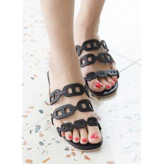 Strap-detail Block-heel Sandals