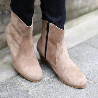 Zip-side Ankle Boots