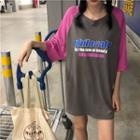 Raglan 3/4 Sleeve T-shirt Dress