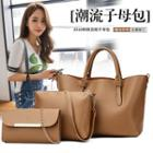Set: Faux Leather Tote + Crossbody Bag + Clutch