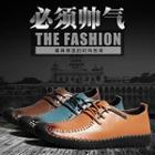 Genuine-leather Stitched Deck Shoes
