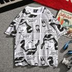 Short-sleeve Comic Printed T-shirt
