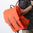 Canvas Backpack Orange - One Size