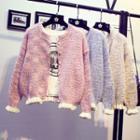 Frill-trim Knit Cardigan