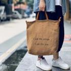 Lettering Linen Crossbody Bag