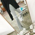 Slit-front Neoprene Pants
