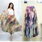 Printed Maxi Chiffon Skirt
