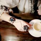 Retro Floral Ring Bracelet