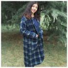 Plaid Woolen Hooded Jacket