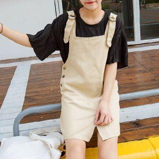 Slit Pinafore Dress