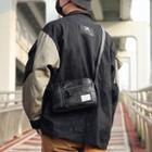 Camo Nylon Crossbody Bag Camouflage - Black - One Size