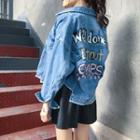 Lettering Oversized Denim Jacket