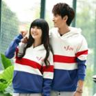 Couple Matching Striped Hoodie