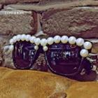 Beaded Square Sunglasses