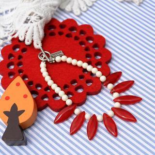 Glass Beads Bracelet(red)