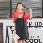 Plain Denim Pinafore Dress
