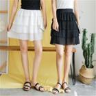 Pleated Tiered Skirt