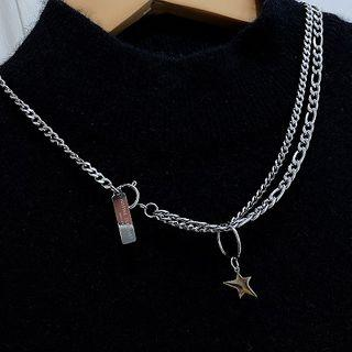 Star Pendant Necklace Wxl-51 - Star - One Size