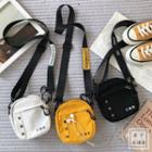 Canvas Buttoned Mini Crossbody Bag