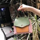 Color Block Buckled Crossbody Bag