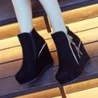 Metal-accent Wedge Ankle Boots