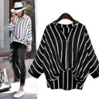 Loose-fit Striped Blouse