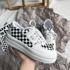 Platform Plaid Sneakers