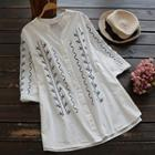 Embroidery Long Blouse