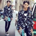 Camouflage Button Coat