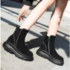 Zipper Platform Short Boots