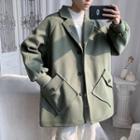 Plain Button Wool Jacket
