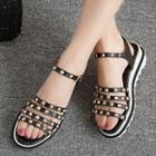 Studded Strappy Platform Sandals