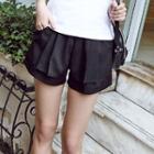 Ruffle Chiffon Shorts