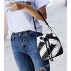 Studded Drawstring Shoulder Bag