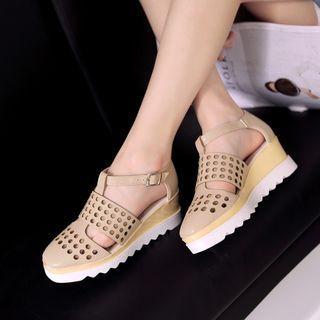 Perforated Roman Sandals