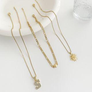 Alloy Sun / Letter S / Heart Pendant Necklace