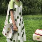 Fruit-pattern Crossbody Canvas Bag