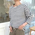 Roundneck Cotton Stripe T-shirt