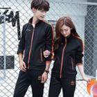 Couplet Matching Set: Zip Jacket + Sweatpants