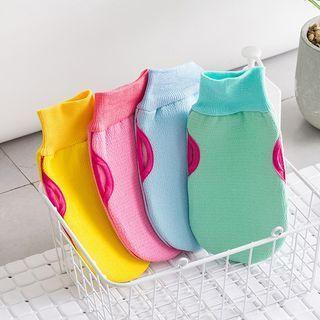 Double Side Body Scrub Bath Glove