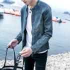 Washed Zip Denim Jacket