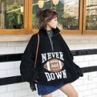 Long-sleeve Furry Lettering Top